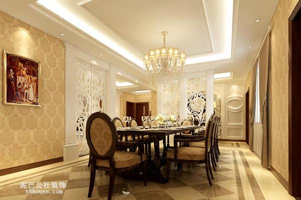 简约 欧式 实用 别墅 餐厅 餐厅图片来自泥巴公社设计师戴鲁君缘在简欧别墅 格兰小镇的分享