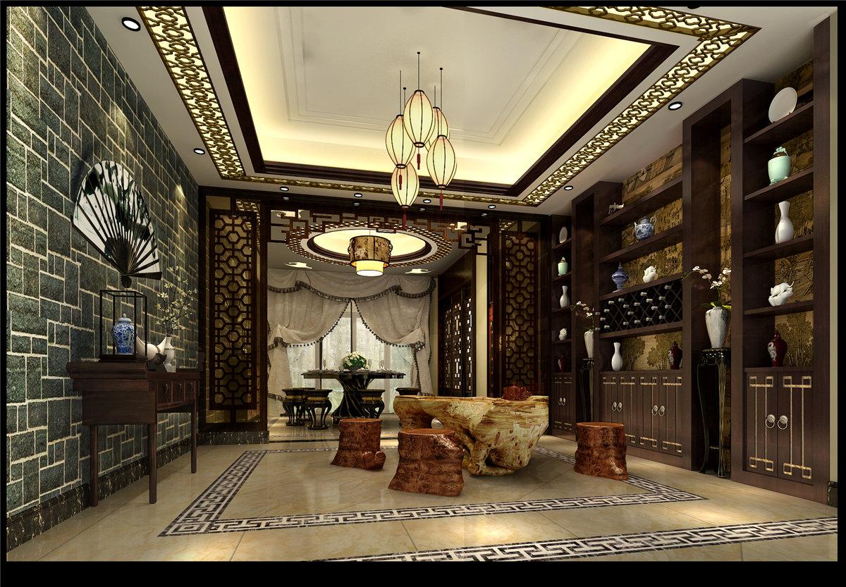 四居室 中式风格 豪宅装修 60后 餐厅图片来自名雕装饰设计在中式典雅豪宅装修的分享