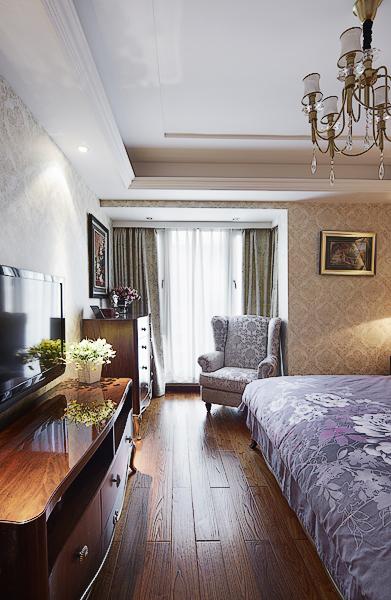 鸿园 四居 混搭 卧室图片来自沪上名家装饰在精致混搭-鸿园的分享