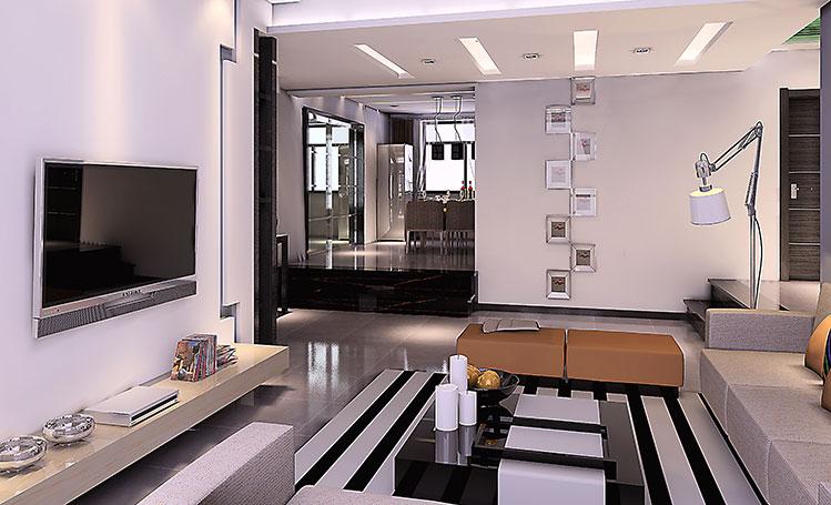 简约 三居 客厅图片来自郑州实创装饰-杨淑平在正商新蓝钻127平时尚简约设计图的分享