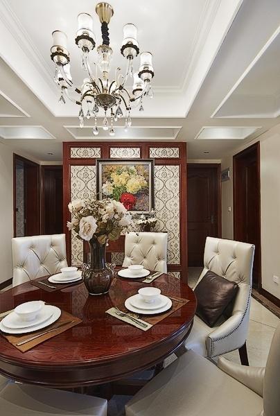 鸿园 四居 混搭 餐厅图片来自沪上名家装饰在精致混搭-鸿园的分享