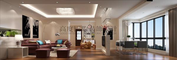 —现代风格 国韵村客厅 成都高度国际