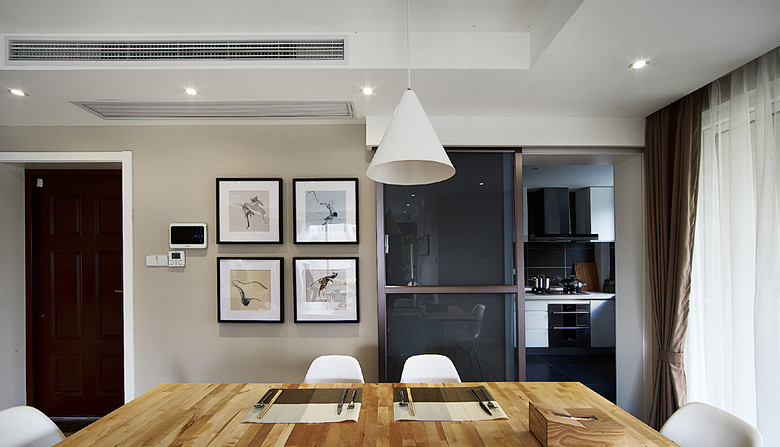 餐厅图片来自家装大管家在时尚典雅 134平现代北欧混搭3居的分享