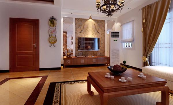 镜面、壁纸、饰品让人眼前一亮,配上电视柜后东南亚的元素装饰点缀出迷人的异域风情。