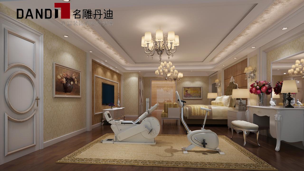 简欧 复式 豪宅装修 环保装修 绿色环保 卧室图片来自名雕丹迪在时尚前卫,绿色环保家的分享
