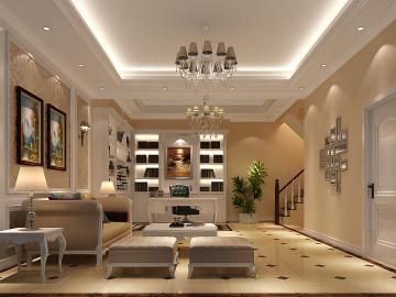 鲁能七号院186平米欧式四居室