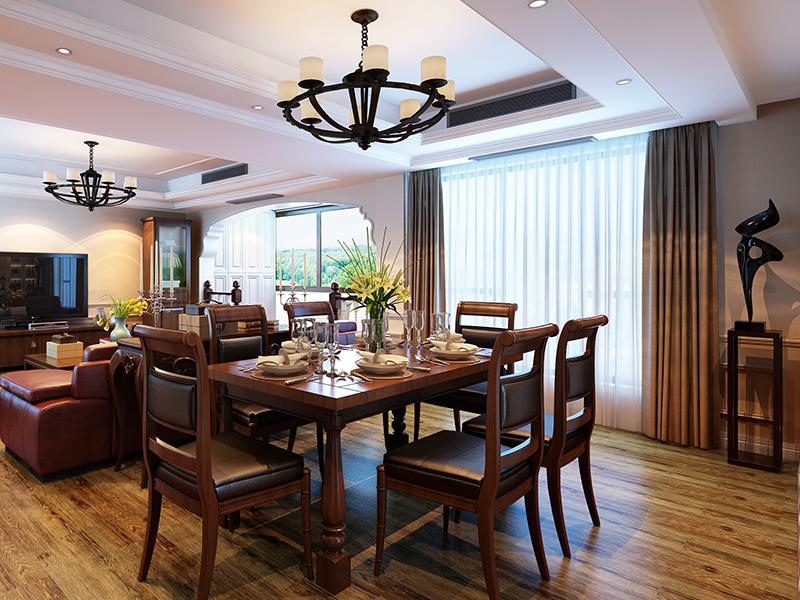 欧式 混搭 别墅 收纳 餐厅图片来自上海知贤设计小徐在我有一座房子向阳微暖的分享