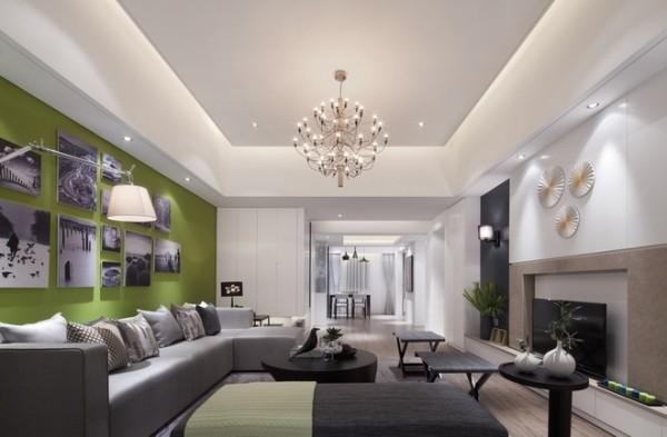 面积:130平 户型:三室两厅 风格:现代简约风格