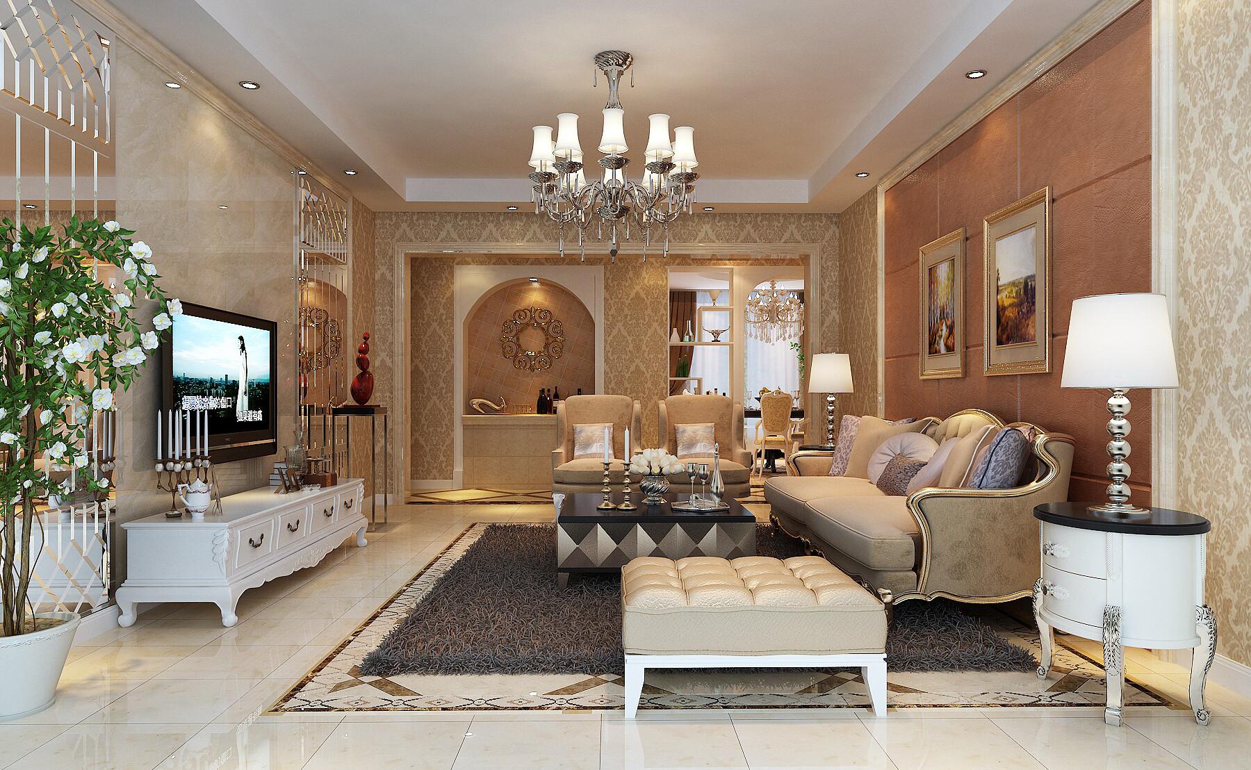 客厅图片来自山水人家装饰在汉江公寓欧式风格的分享