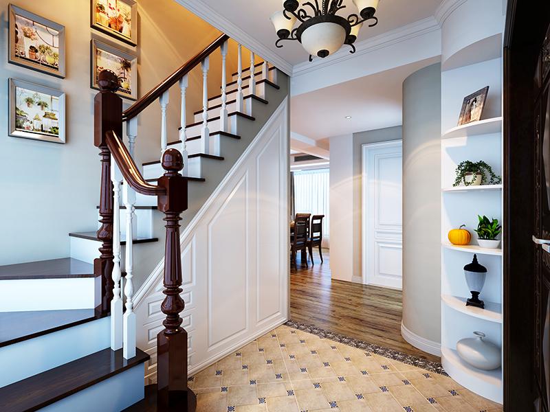 欧式 混搭 别墅 收纳 楼梯图片来自上海知贤设计小徐在我有一座房子向阳微暖的分享