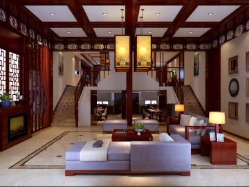 星光小区400平别墅中式风格
