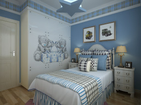 时尚 简约 欧式 明快 清新 典雅 大气 悠闲 舒适 儿童房图片来自美颂雅庭装饰在千年美丽240平时尚简欧的分享