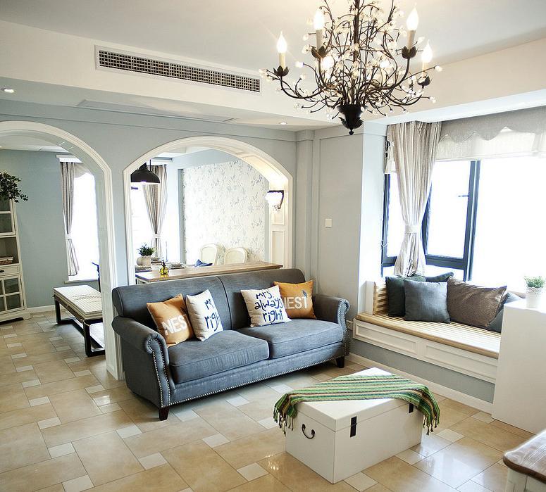 客厅图片来自佰辰生活装饰在91方蓝色法式小清新的分享