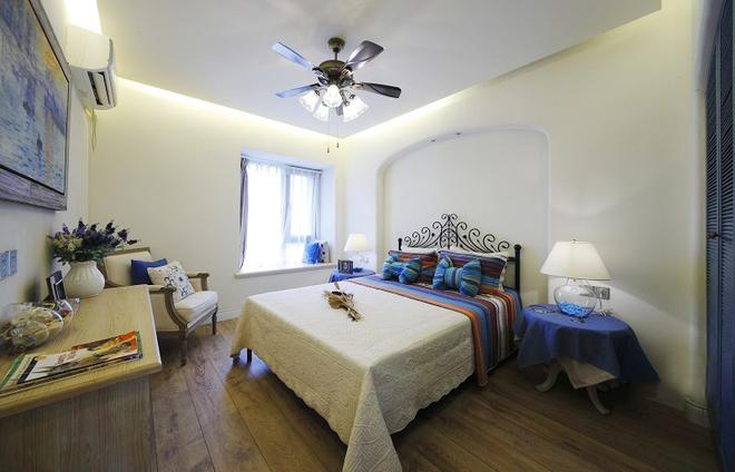 简约 田园 地中海 二居 80后 卧室图片来自孙进进在徐汇110平二居田园地中海的分享