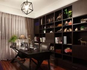 现代 混搭 个性 温馨 幸福之家 书房图片来自佰辰生活装饰在100平现代感十足混搭三居的分享