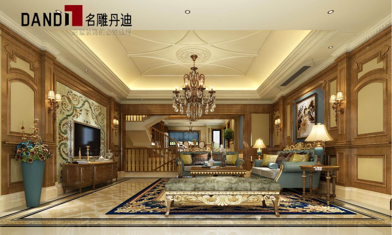 欧式 别墅 豪宅装修 别墅装修 三湘海尚 名雕丹迪 客厅图片来自名雕丹迪在古典欧式淡雅别墅的分享