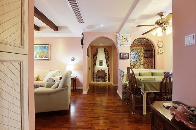 二居 混搭风格 粉色 家庭装修 阿拉奇设计 客厅图片来自阿拉奇设计在粉色混搭两居室的分享