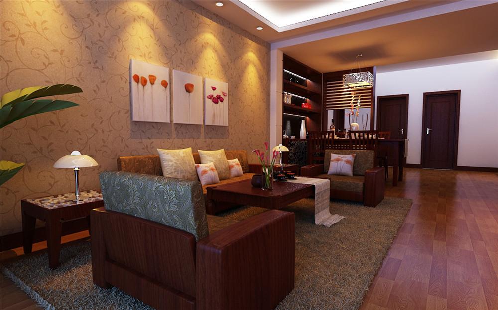 三居 白领 收纳 80后 小资 客厅图片来自实创装饰完美家装在紫金新干线128平简约中式案例的分享