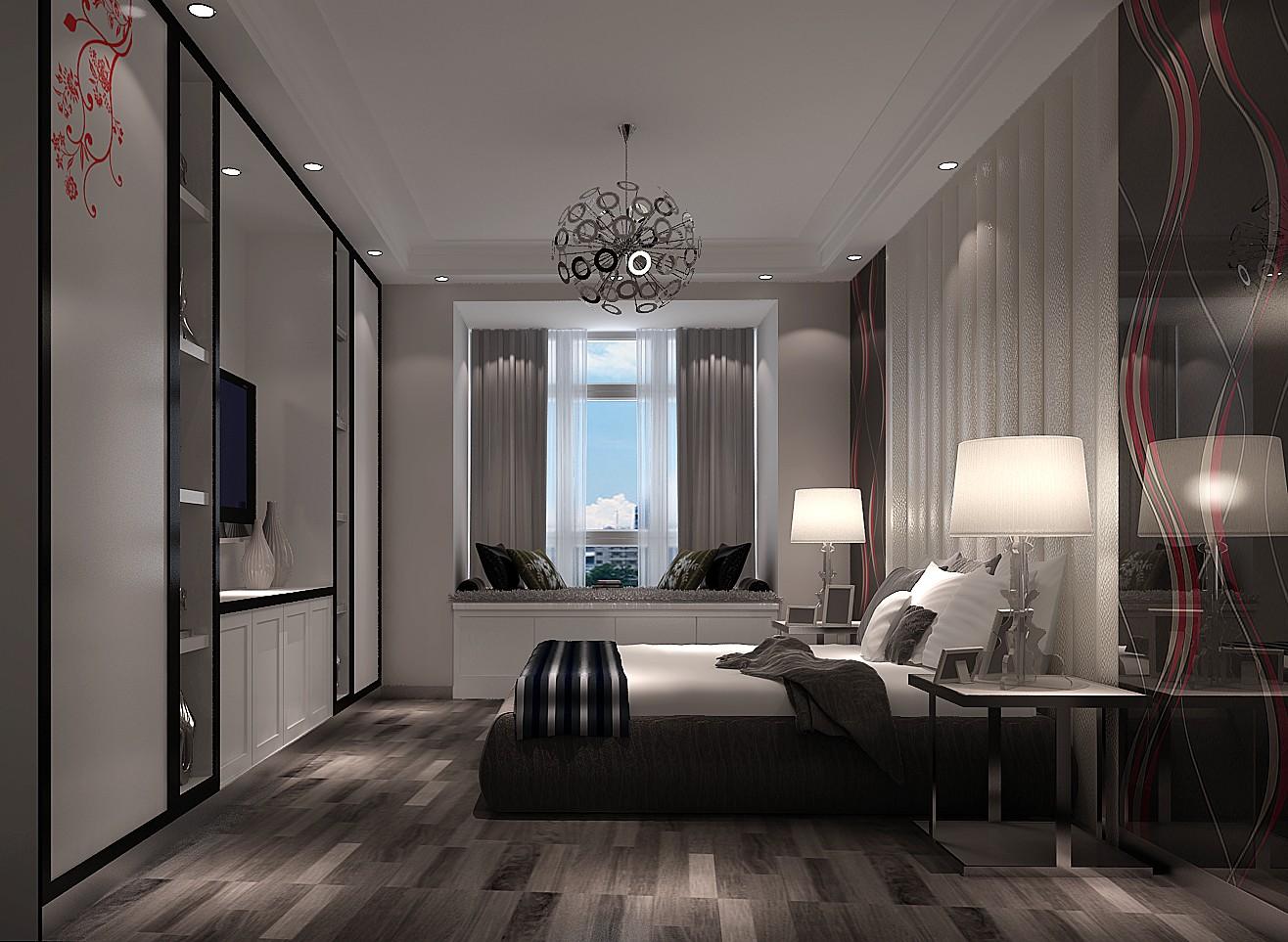 三居 现代 卧室图片来自高度国际装饰设计集团凌军在中景江山赋97平米现代风格的分享