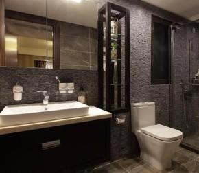 现代 混搭 个性 温馨 幸福之家 卫生间图片来自佰辰生活装饰在100平现代感十足混搭三居的分享
