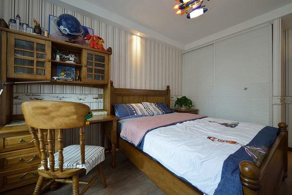 日升装饰 卧室图片来自装修设计芳芳在136平纯美混搭美式地中海三居室的分享