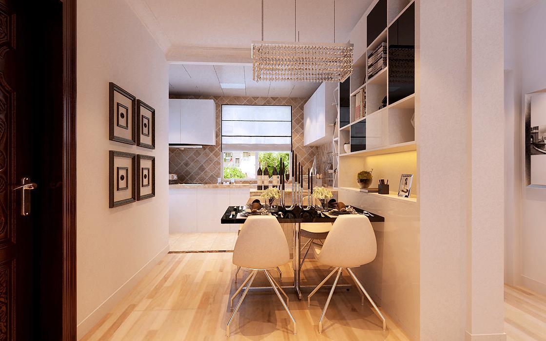简约 二居 白领 收纳 80后 小资 餐厅图片来自实创装饰百灵在首城汇景湾75平米现代简约两居室的分享