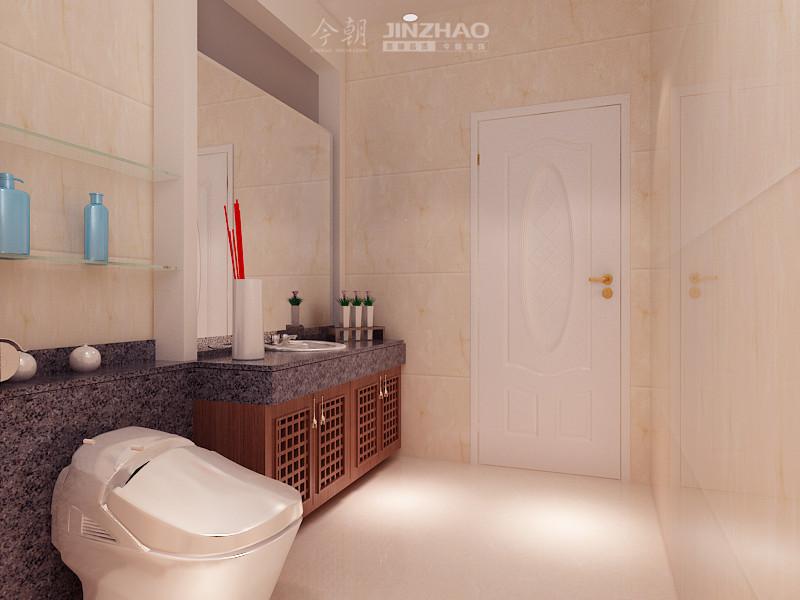 欧式 今朝 设计图 装修 设计师 卫生间图片来自石家庄今朝装饰在135平众美绿都简欧风格效果图的分享