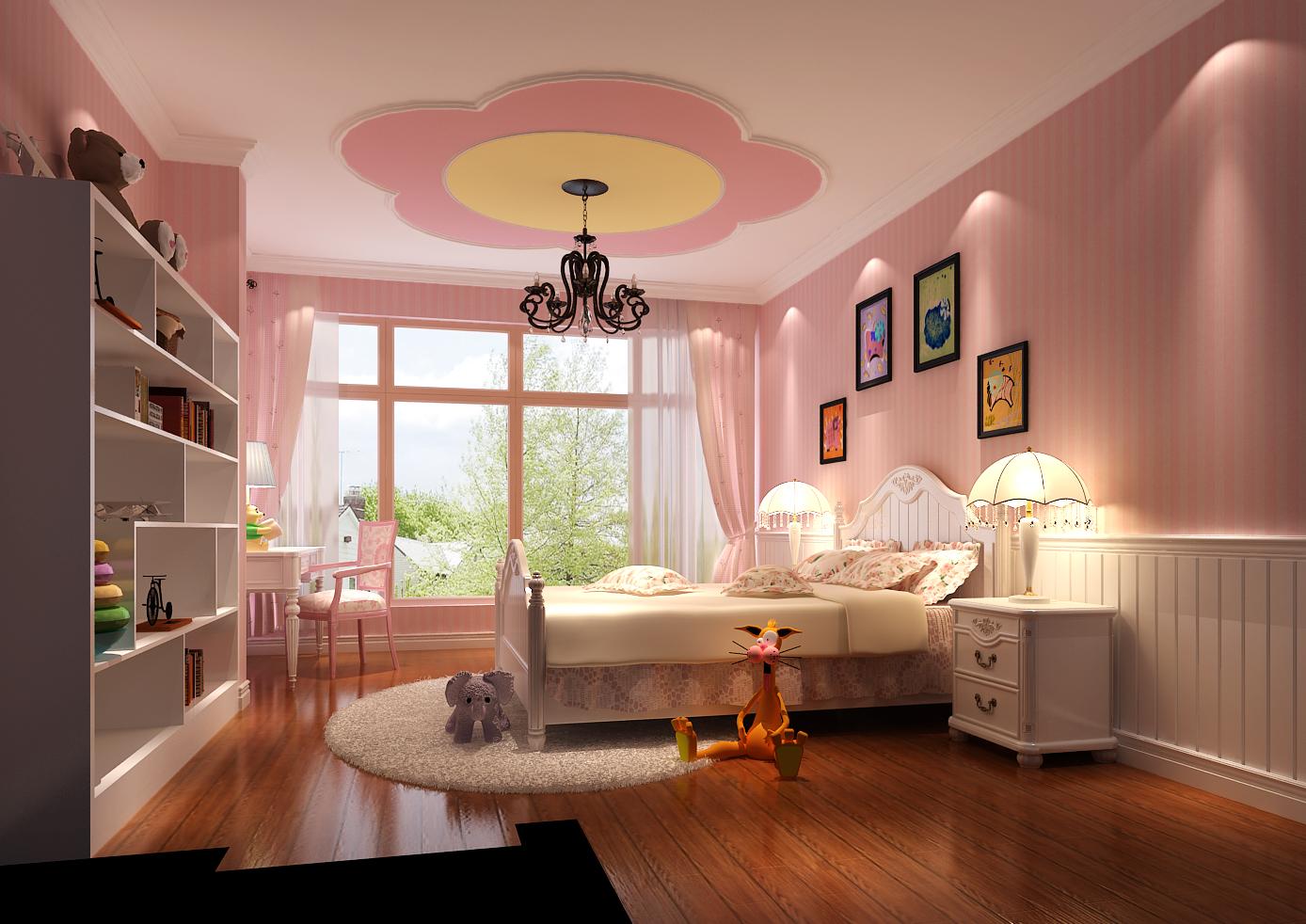 美式 跃层 儿童房图片来自高度国际装饰设计集团凌军在中景江山赋200平米美式风格的分享