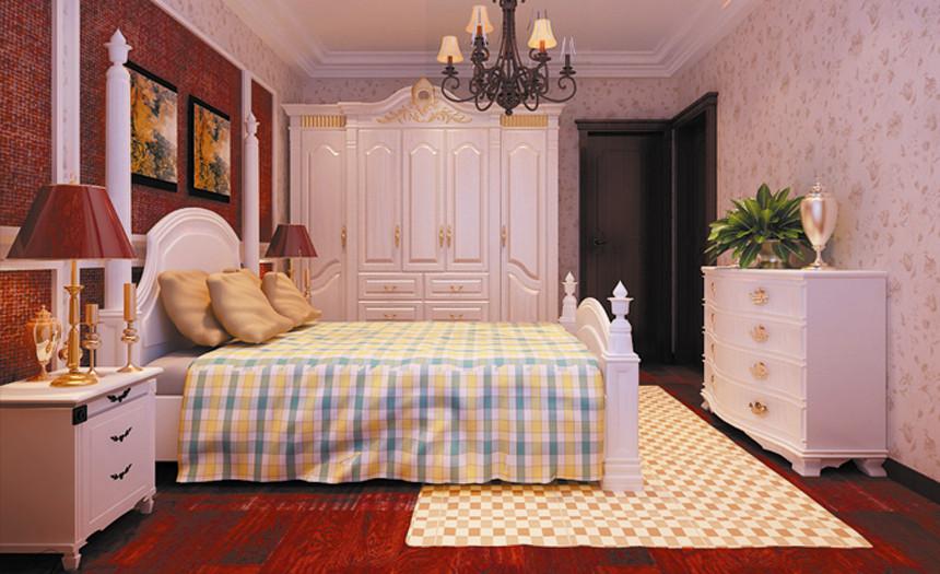 欧式 田园 混搭 小资 卧室图片来自实创苗苗在【西安实创装饰】美式乡村四居的分享