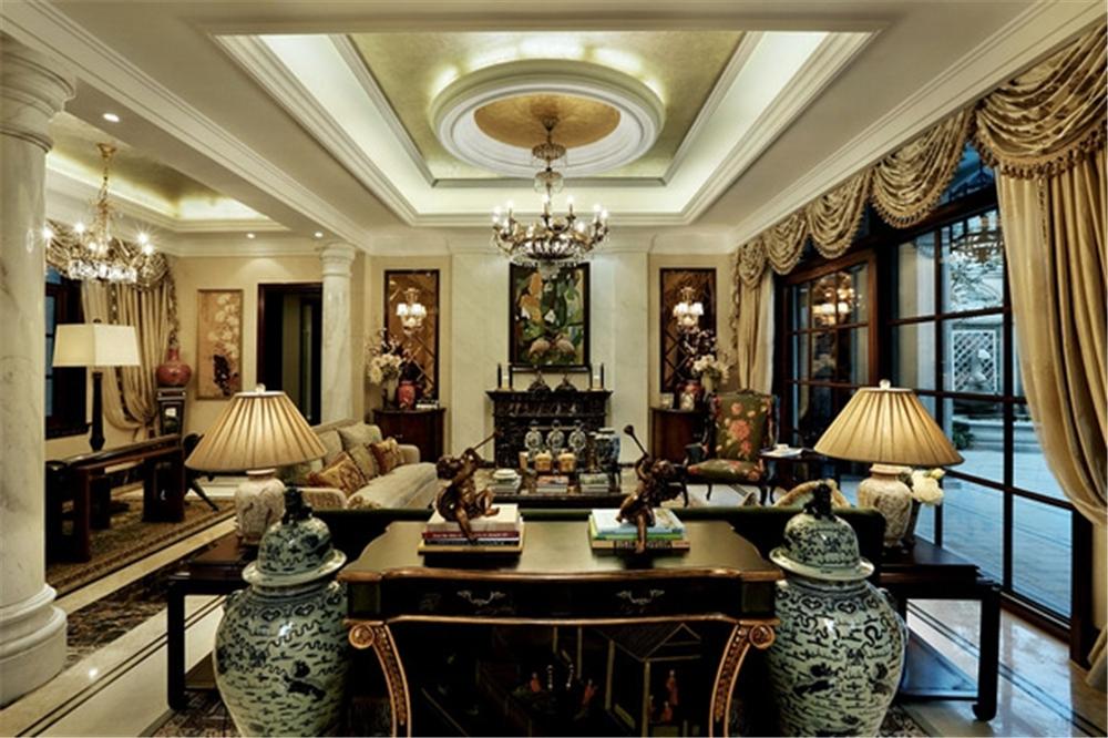 绿城玫瑰园 别墅装修 别墅设计 聚通装潢 欧式风格 客厅图片来自jtong0002在绿城玫瑰园样板间装修完工实景的分享