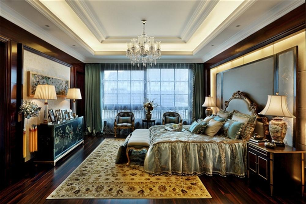 绿城玫瑰园 别墅装修 别墅设计 聚通装潢 欧式风格 卧室图片来自jtong0002在绿城玫瑰园样板间装修完工实景的分享
