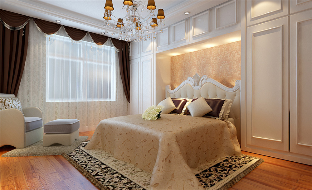 欧式 别墅 白领 收纳 80后 小资 卧室图片来自实创装饰完美家装在悦泽苑300平简欧风格案例赏析的分享
