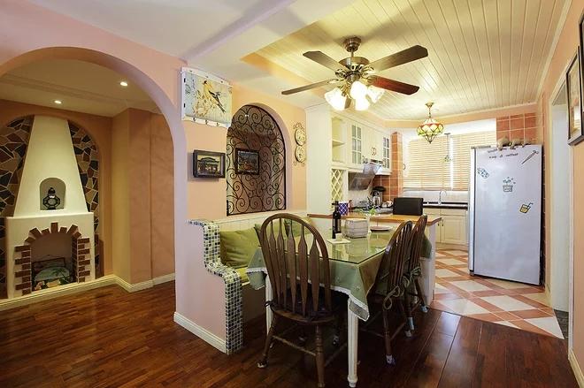 二居 混搭风格 粉色 家庭装修 阿拉奇设计 餐厅图片来自阿拉奇设计在粉色混搭两居室的分享