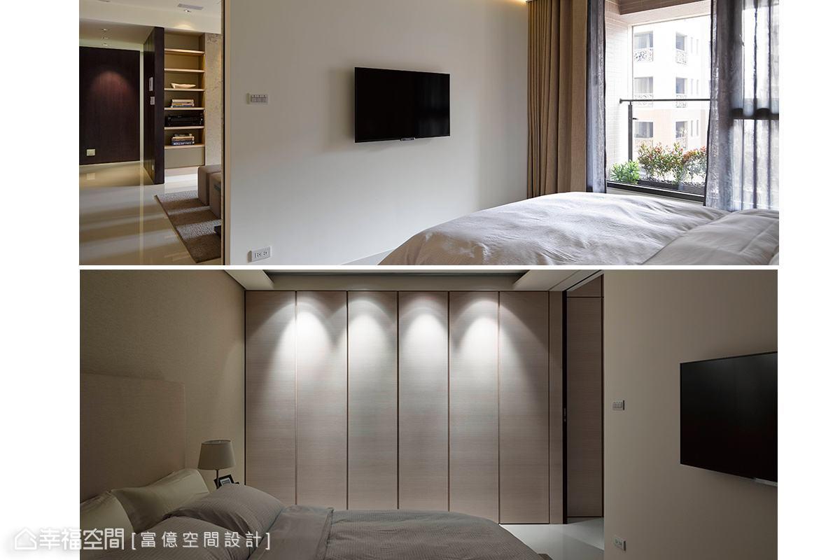 卧室图片来自幸福空间在205平度假饭店般的闲雅生活的分享