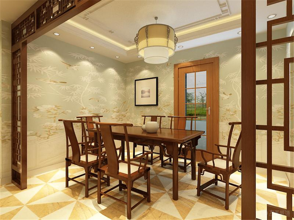 新中式 二居 白领 收纳 80后 小资 餐厅图片来自阳光放扉er在玺岳-97.9㎡-新中式风格的分享