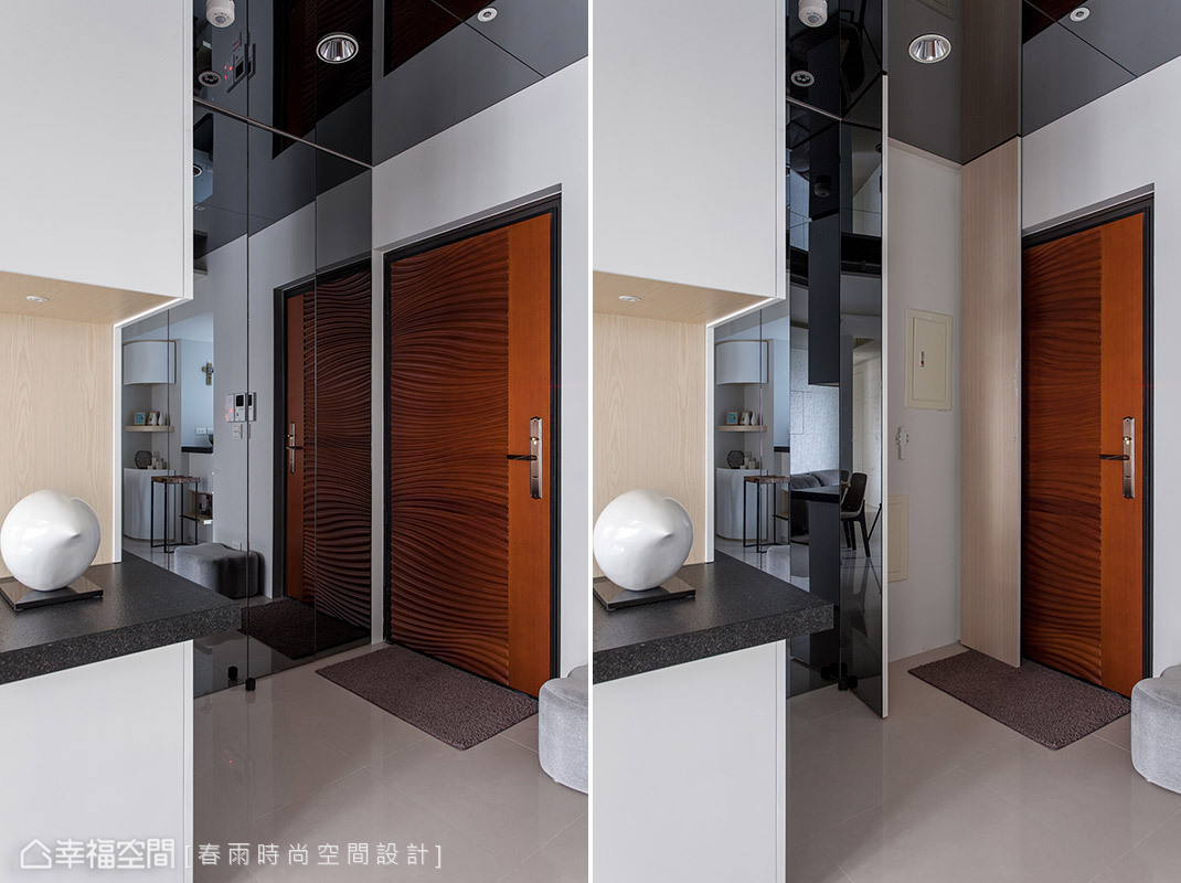 玄关图片来自幸福空间在99平白色减法 摩登光感的分享