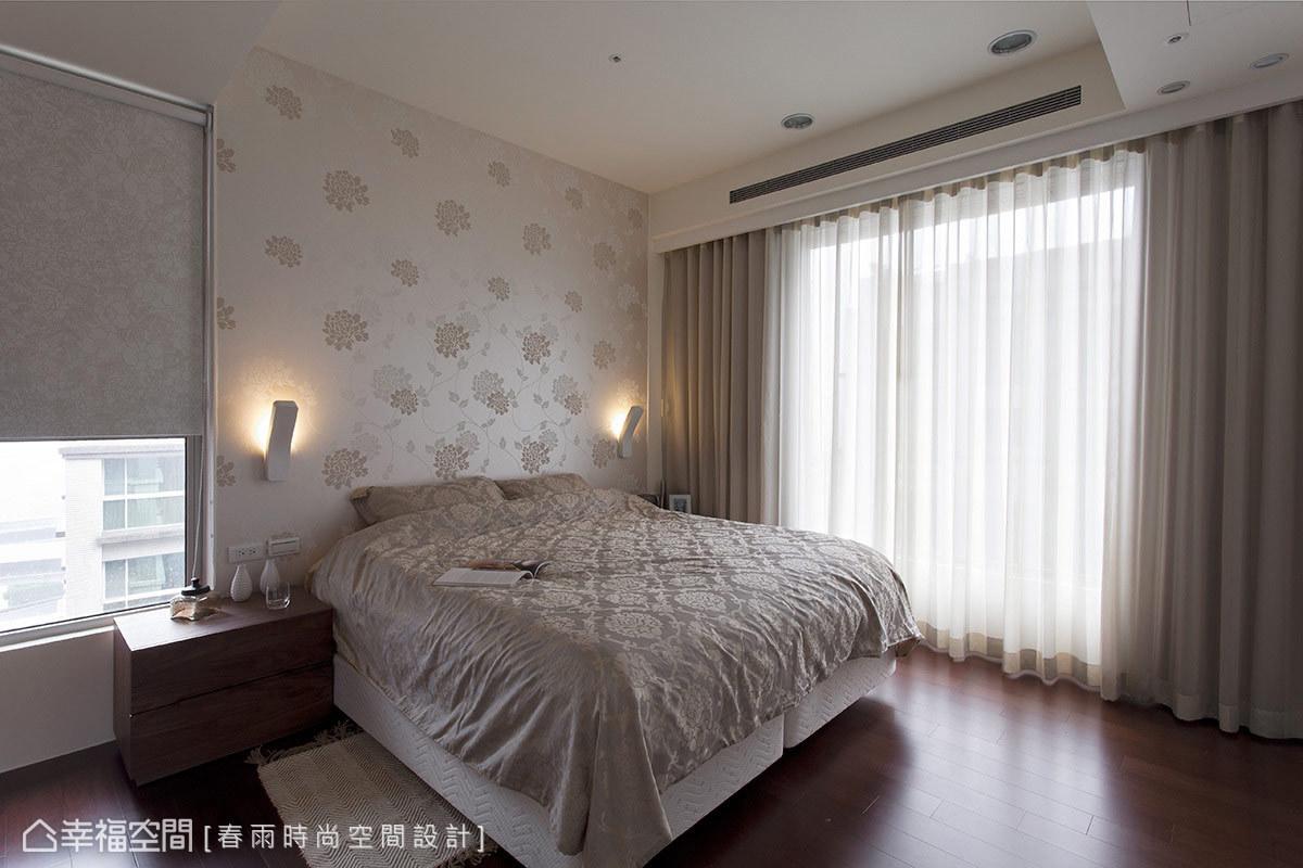 卧室图片来自幸福空间在99平白色减法 摩登光感的分享