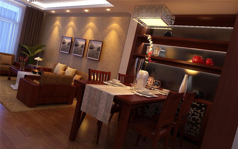 三居 白领 收纳 80后 小资 餐厅图片来自实创装饰完美家装在紫金新干线128平简约中式案例的分享