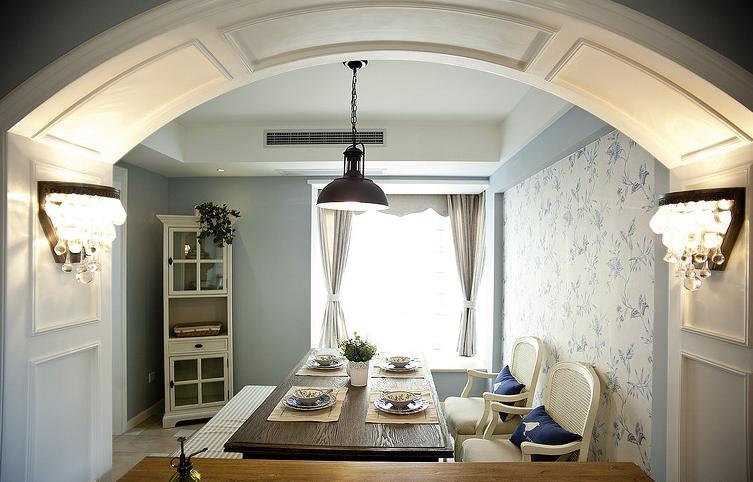 餐厅图片来自佰辰生活装饰在91方蓝色法式小清新的分享
