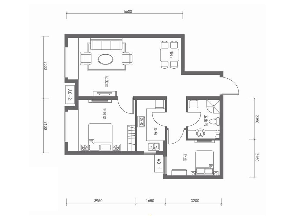 简约 户型图图片来自tjsczs88在和鸿四季恋城-两室-70平米的分享
