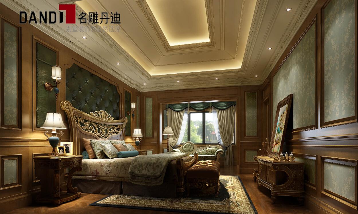 欧式 别墅 豪宅装修 别墅装修 三湘海尚 名雕丹迪 卧室图片来自名雕丹迪在古典欧式淡雅别墅的分享