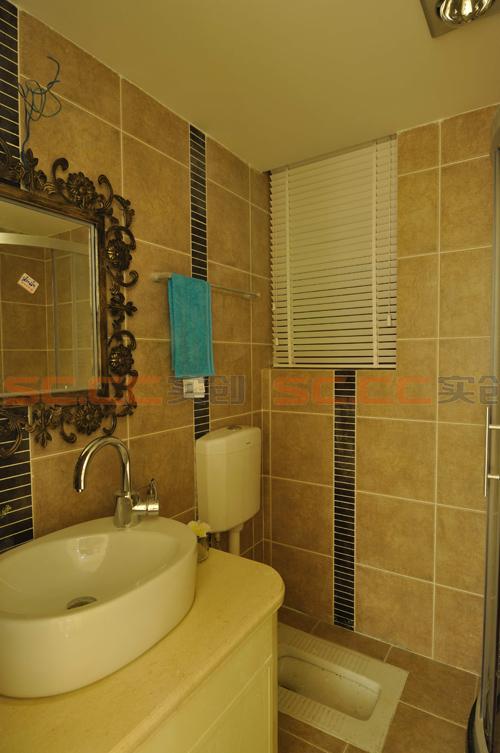 地中海 三居 装修 蓝色风格 卫生间图片来自南京实创装饰夏雨荷在金域华府130平--地中海之家的分享