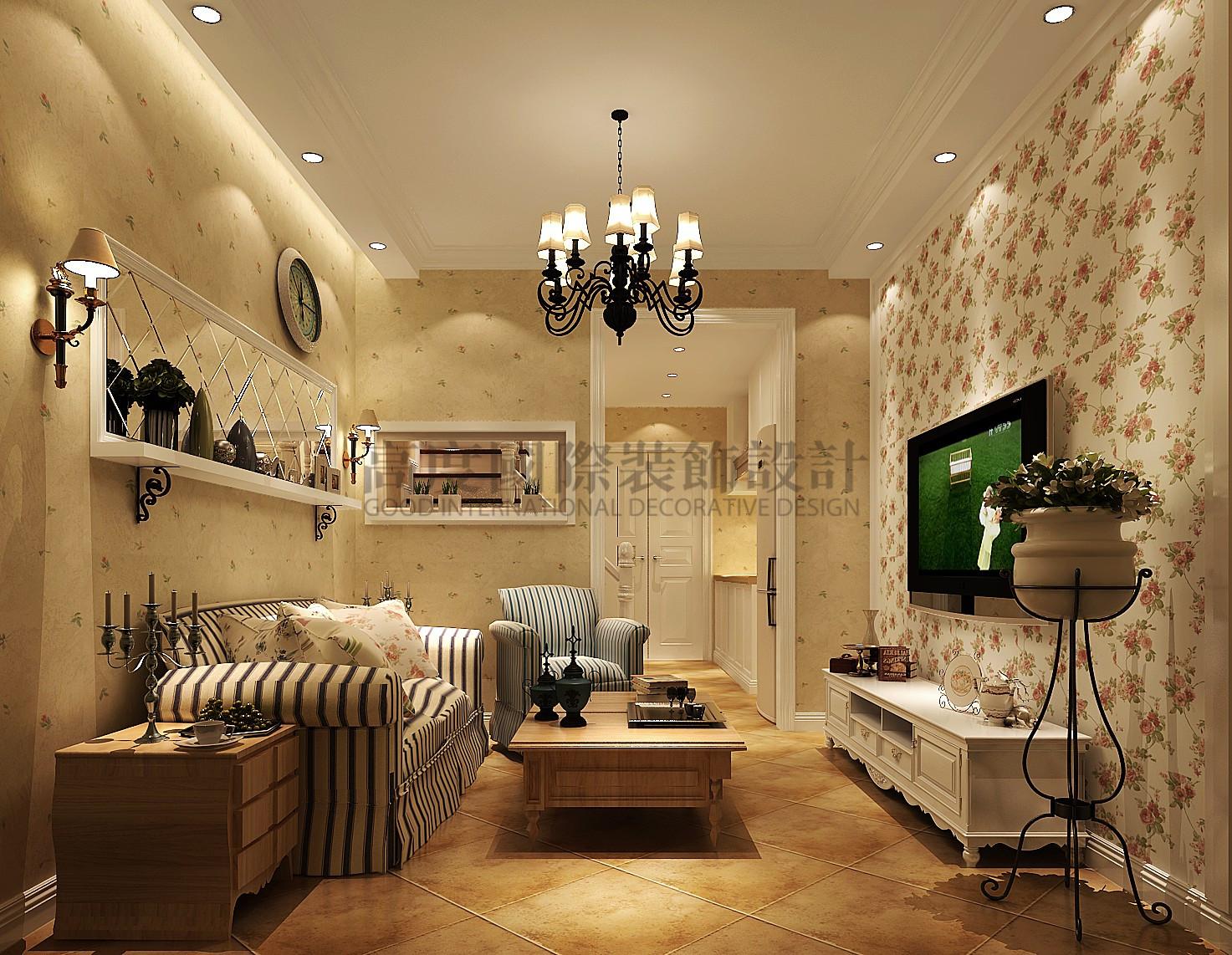 保利百合花 高度国际 loft装修 高度样板间 客厅图片来自成都高度国际在保利百合花园—78loft—田园风的分享