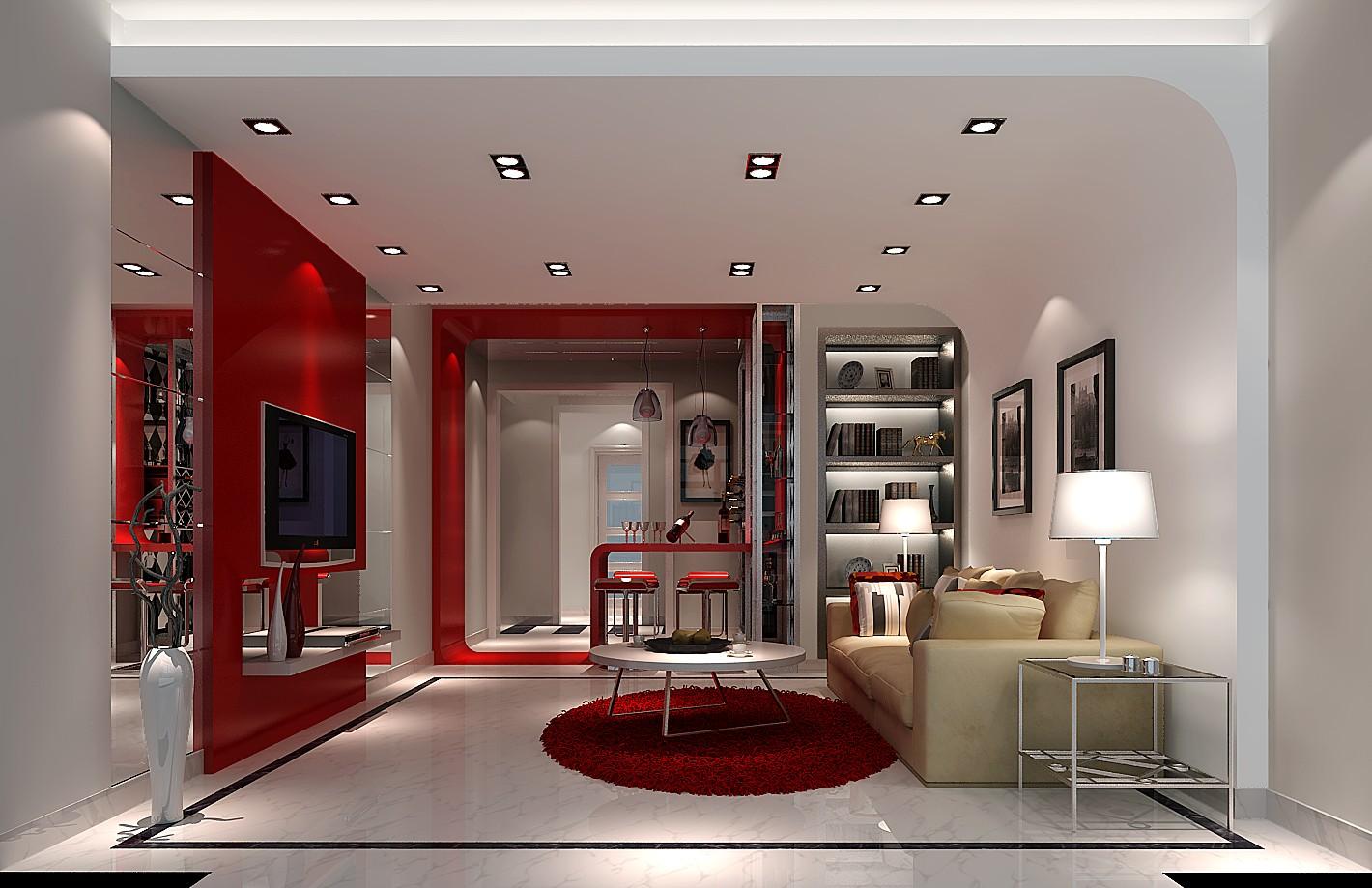 三居 现代 客厅图片来自高度国际装饰设计集团凌军在中景江山赋97平米现代风格的分享