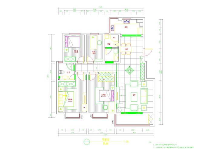 混搭 三居 旧房改造 80后 收纳 白领 小资 户型图图片来自今朝装饰老房专线在老房翻新新中式的分享