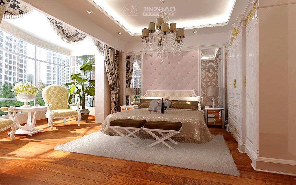 欧式 今朝 设计图 装修 设计师 卧室图片来自石家庄今朝装饰在135平众美绿都简欧风格效果图的分享