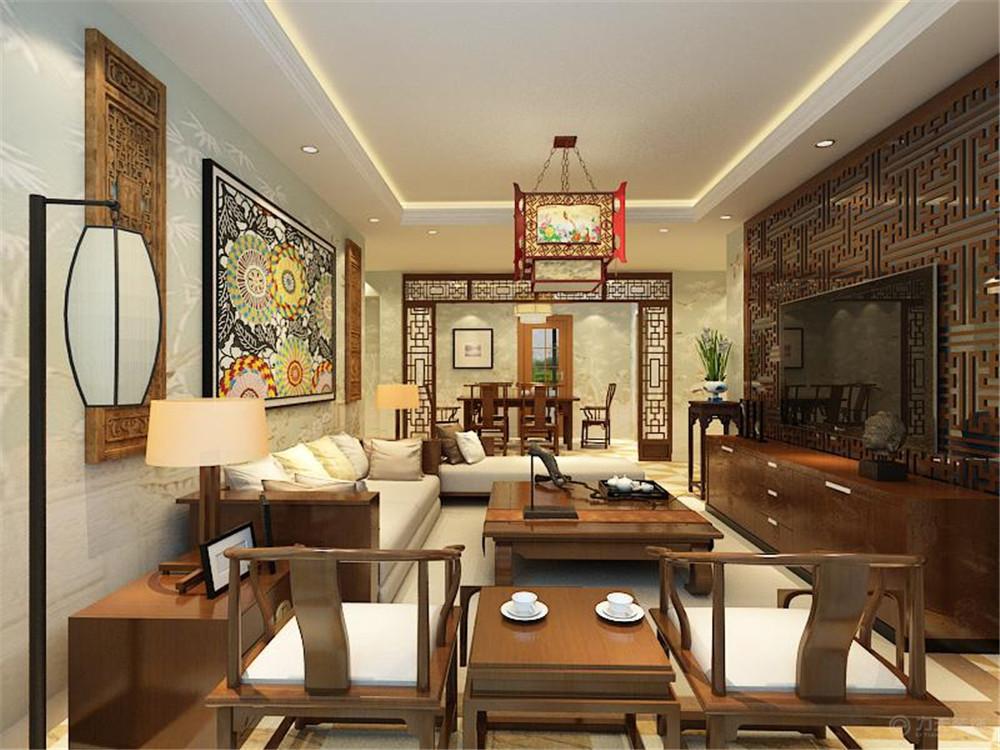 新中式 二居 白领 收纳 80后 小资 客厅图片来自阳光放扉er在玺岳-97.9㎡-新中式风格的分享