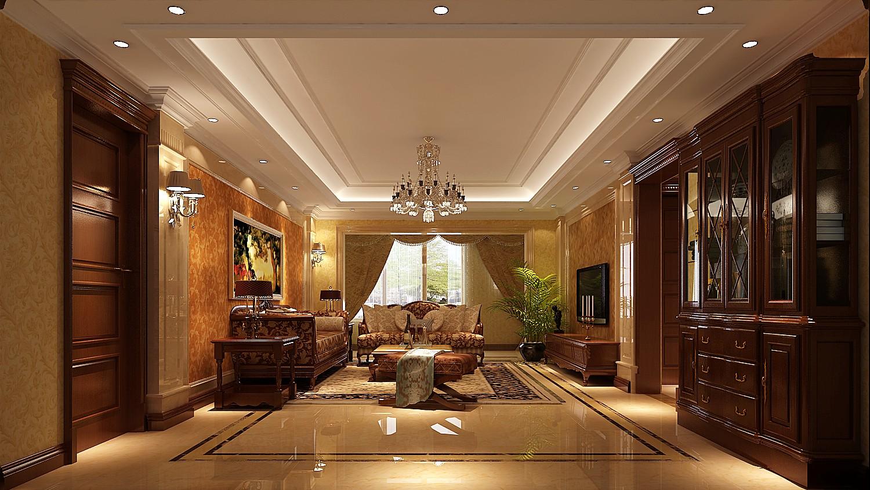 欧式新古典 三居 客厅图片来自高度国际装饰设计集团凌军在中景未山赋184平米欧式新古典的分享