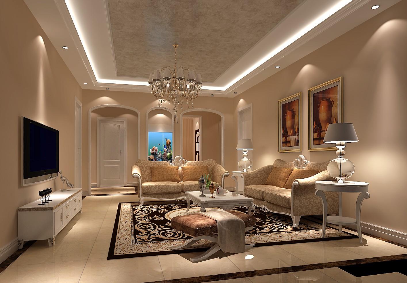 简约 欧式 三居 客厅图片来自高度国际装饰设计集团凌军在中铁花语城131平米简欧风格的分享