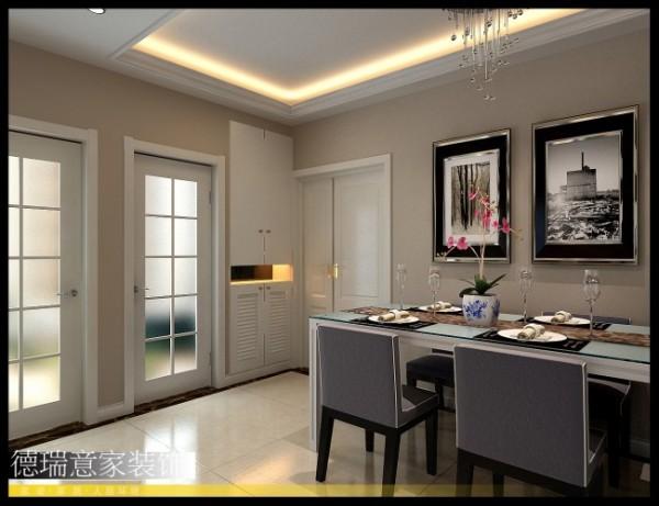 餐厅、玄关处,简洁、优雅的线条让空间带给人舒适的视觉感受。